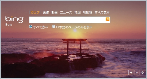 Bing New Year Home Page