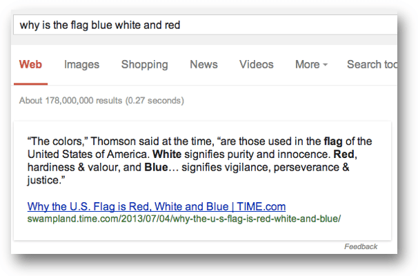 why is the flag blue white and redのワンボックス