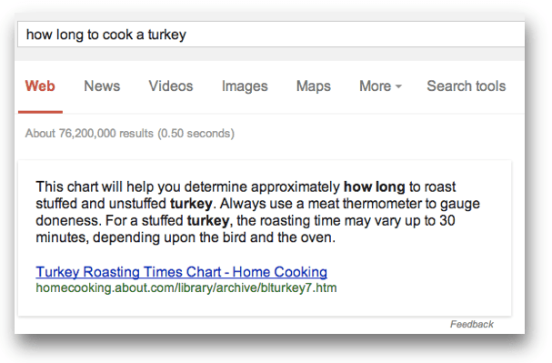 ow long to cook a turkeyのワンボックス