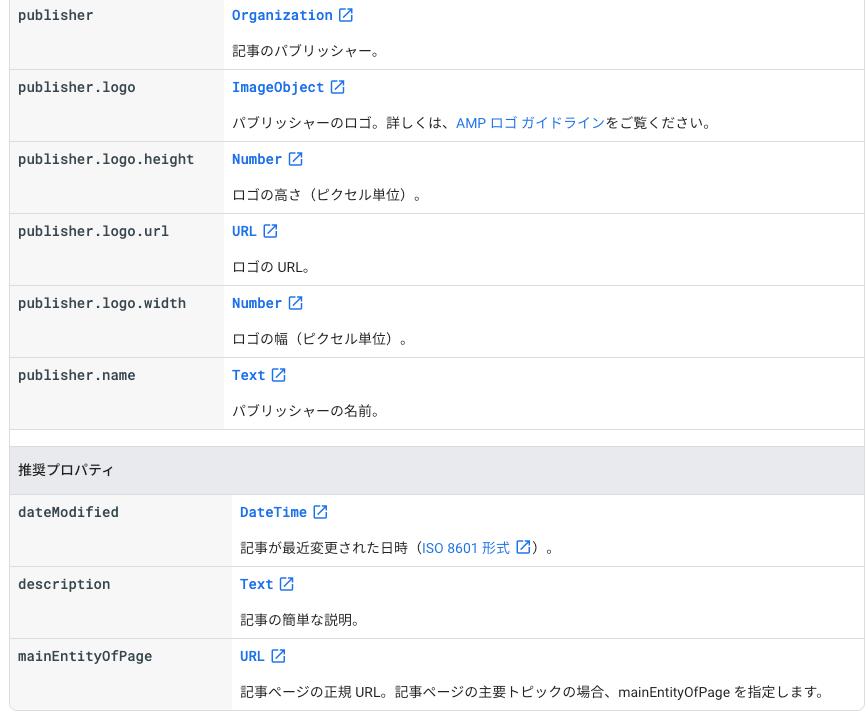 Article 構造化データの日本語ページ