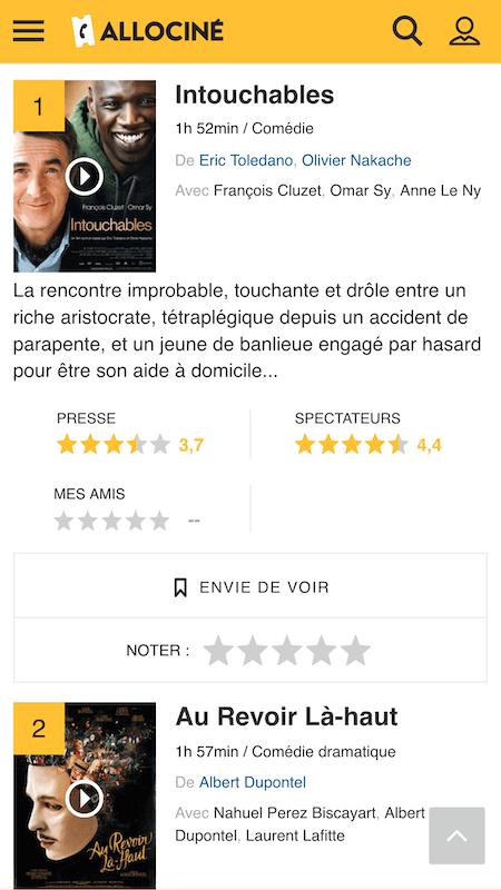 Meilleurs films français - AlloCiné
