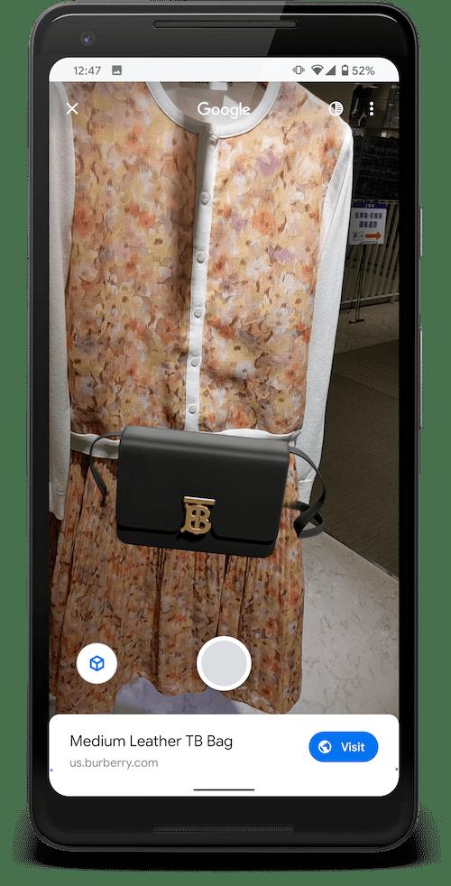 バーバリーのバッグを AR