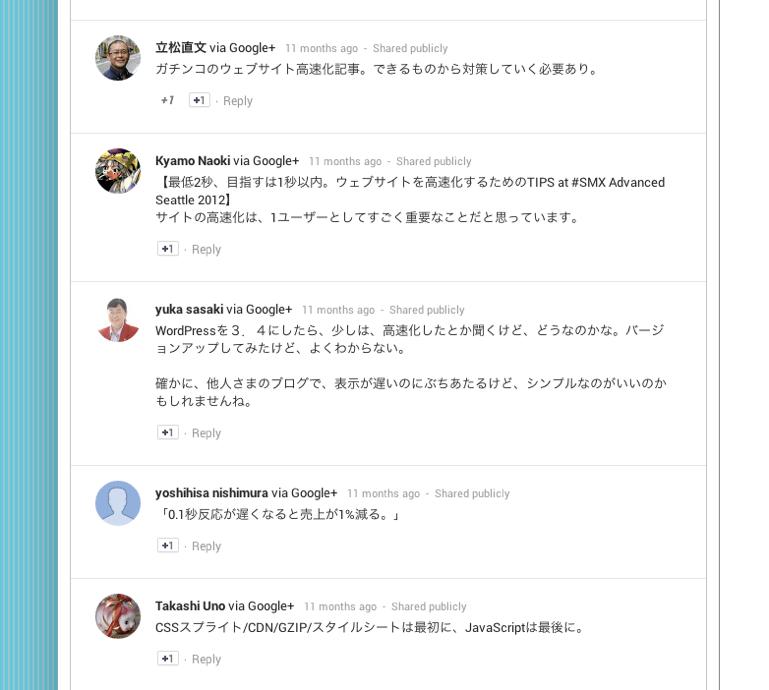 Google+のコメントを表示するWor...