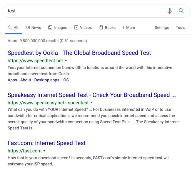 現状の検索結果
