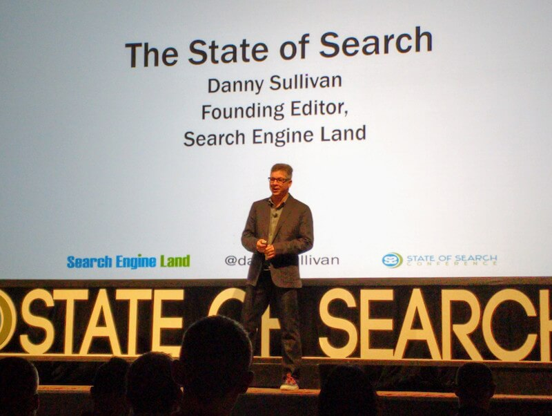 Danny Sullivan at State of Search 2016