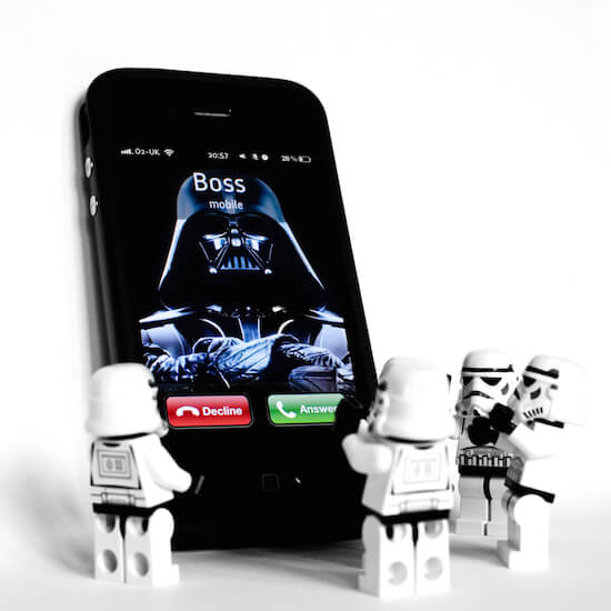 Darth Vader is calling over mobile phone