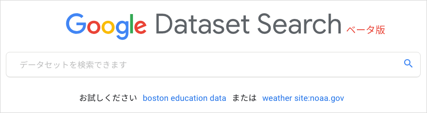 Dataset Search