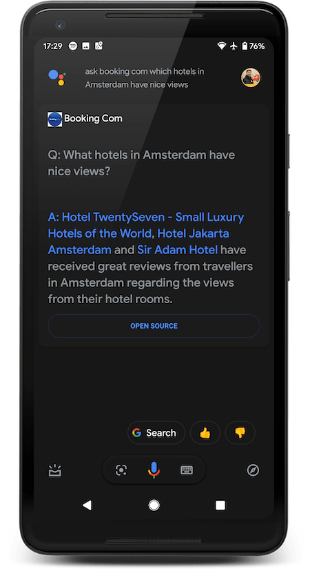Ask Bookig.com which hotels in Amsterdam have nice views