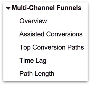 Google Analyticsの「Multi-Channel Funnels」
