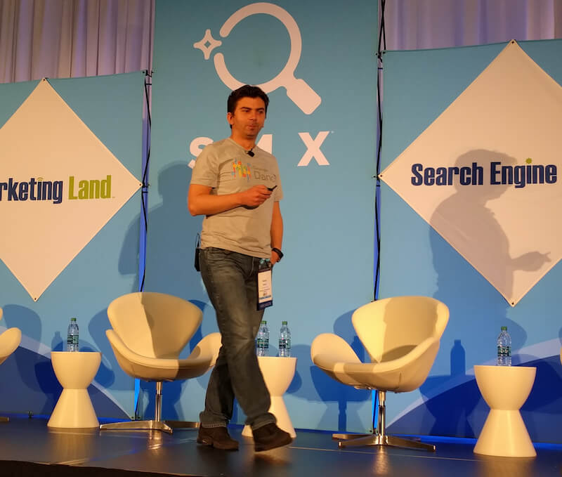 Gary Illyes talking at SMX West 2017