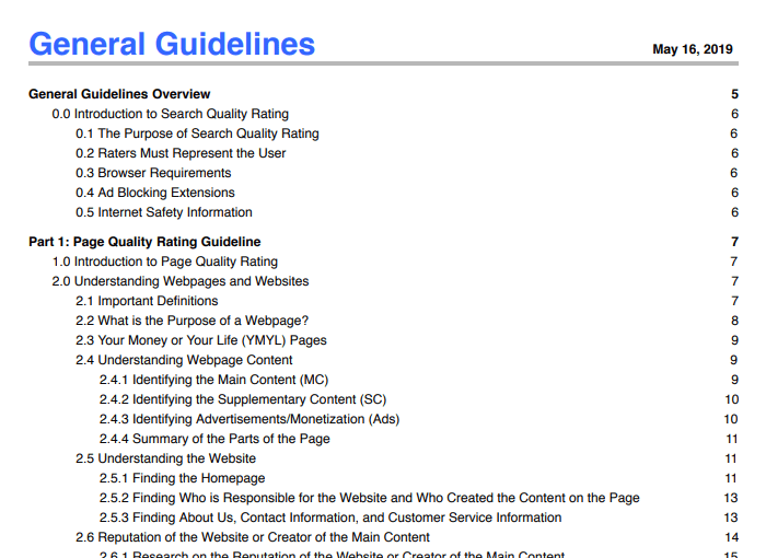 General Guidelines May 16, 2019