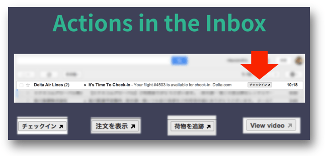 GmailのActions in the Inboxの例