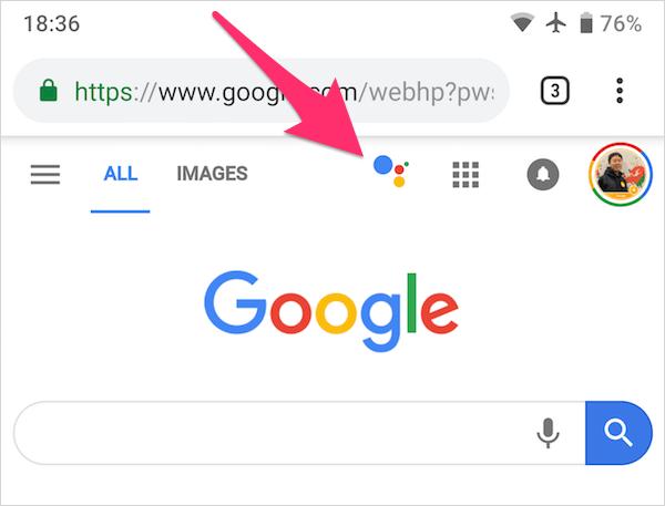 Google 検索ホームページアシスタント アイコン