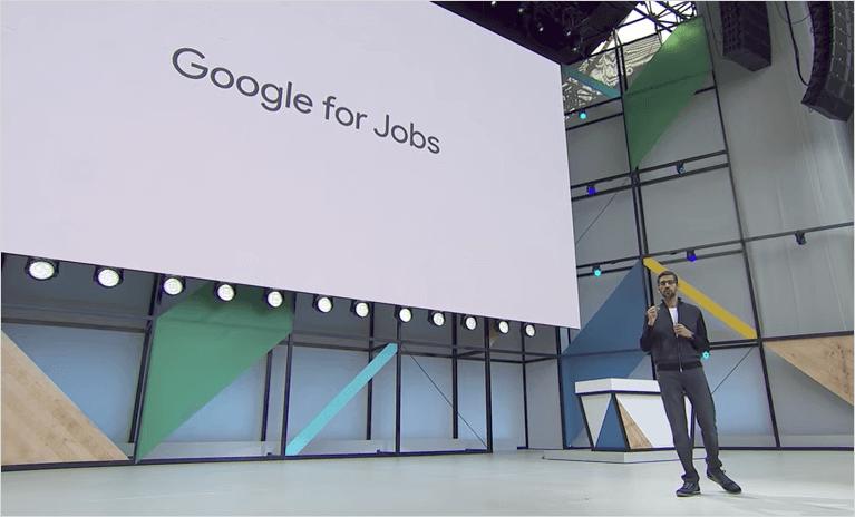 Google for Jobs を発表する Sundar Pichai