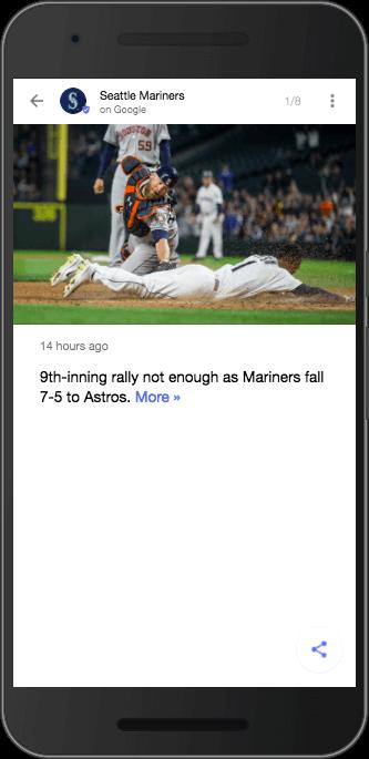 マリナーズのGoogle Posts