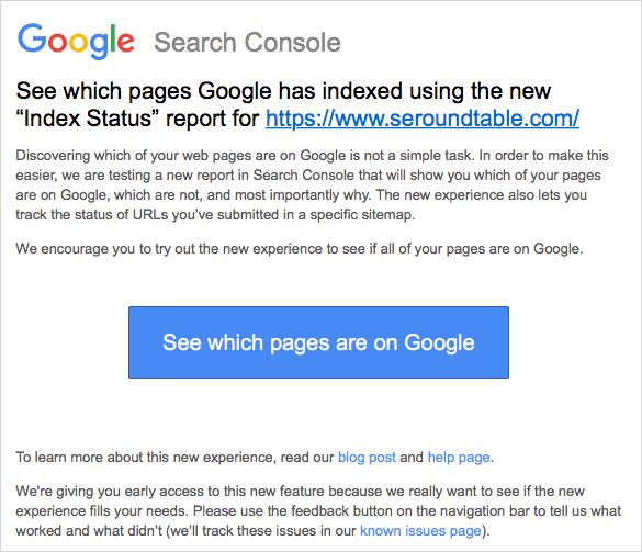 新 Search Console ベータテストの案内