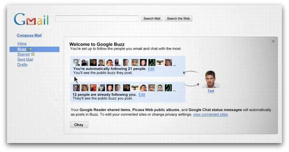 Google Buzzスクリーンショット1