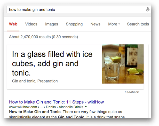 how to make gin and tonicのアンサーボックス