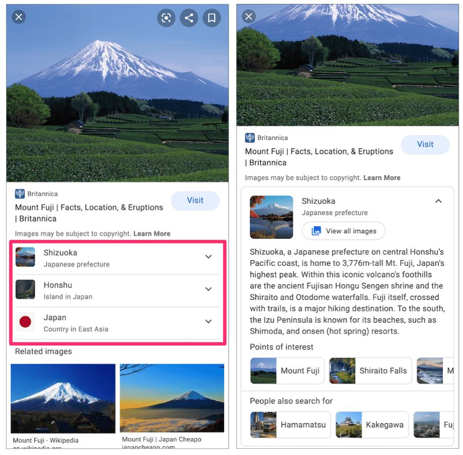 富士山の関連エンティティ