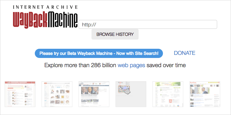 Internet Archive の Wayback Machine
