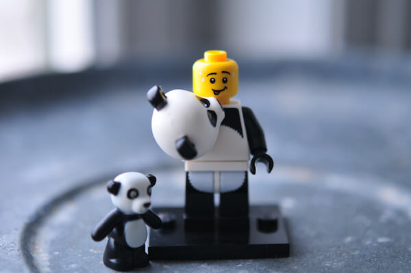 Panda made by LEGO