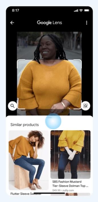 Google レンズで類似アイテム検索