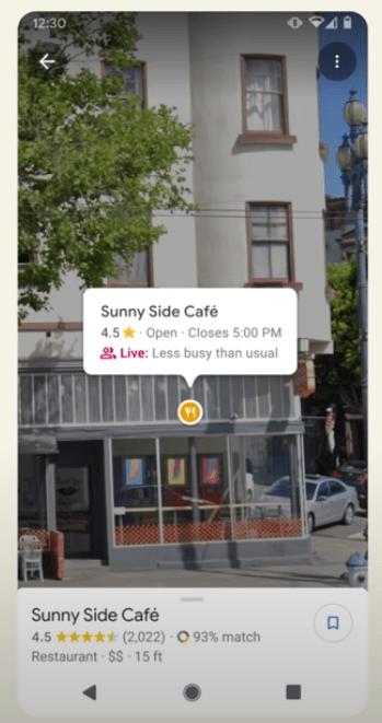 Google マップの AR
