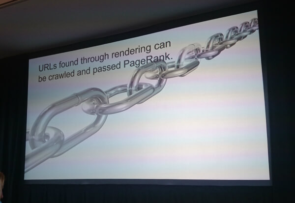 URLs found through rendering can be crawled and passed PageRank.