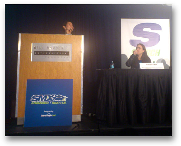 Maile speaking at SMX Advanved 2013