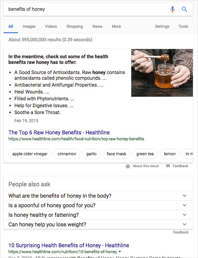 「benfits of honey」のPC検索結果