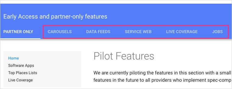 Pilot features