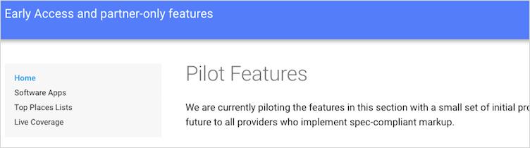 項目が消えたPilot features