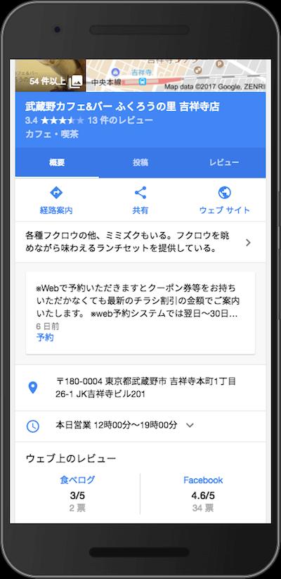「武蔵野カフェ&バー ふくろうの里 吉祥寺店」の投稿