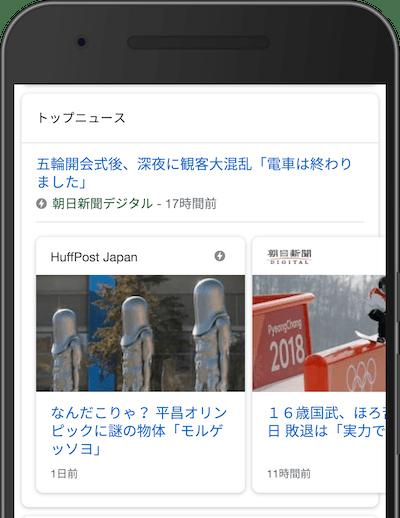 平昌オリンピックのトップニュース