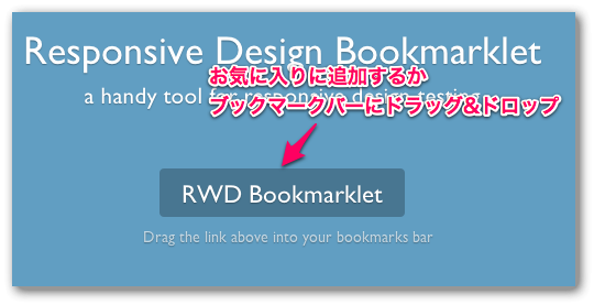 Responsive WebDesign Bookmarklet