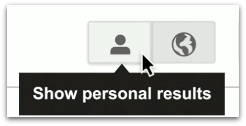 Show Personal Results Button