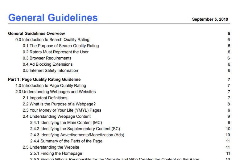 General Guidelines September 5, 2019