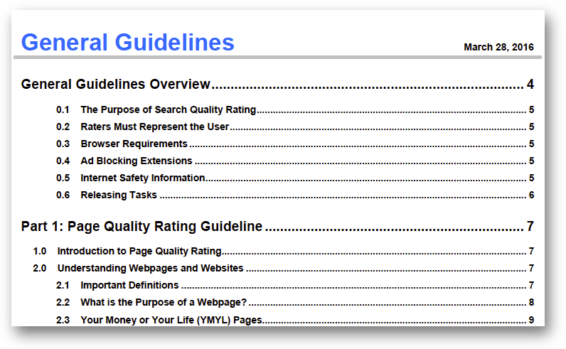 General Guidelines - March 28, 2016