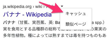 """検索結果からキャッシュを見る"""""""
