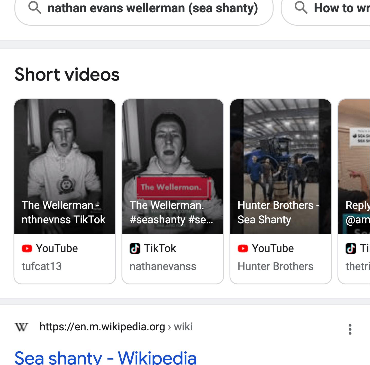 YouTube と TikTok のショートムービー