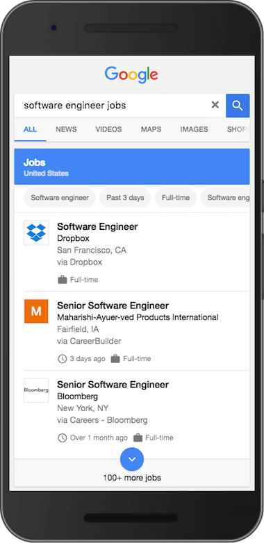 Software Engineer Jobs のリッチ結果