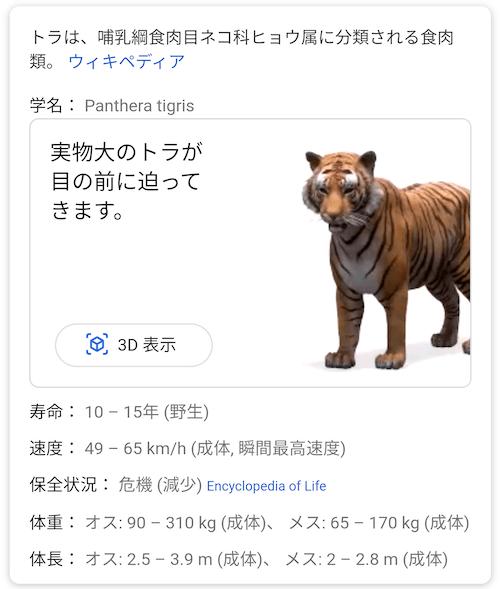 トラ 3D