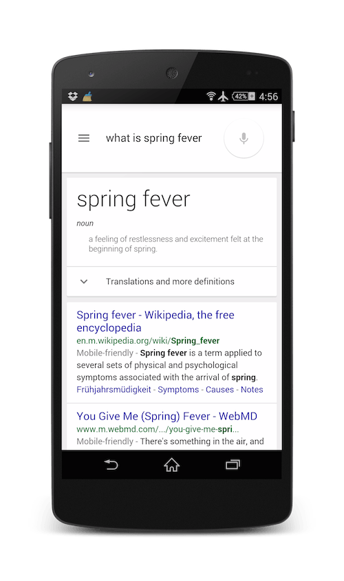 what is spring feverのダイレクトアンサー