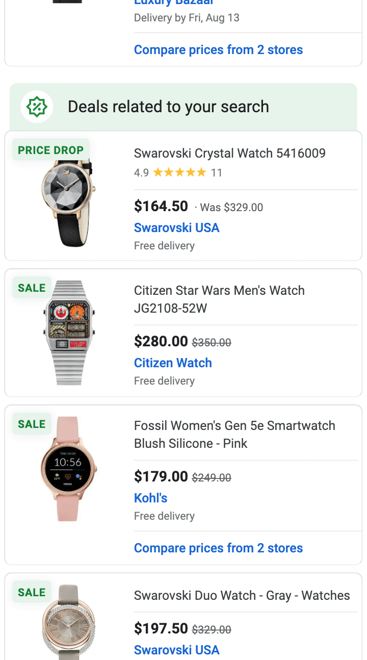 Deals related to your search