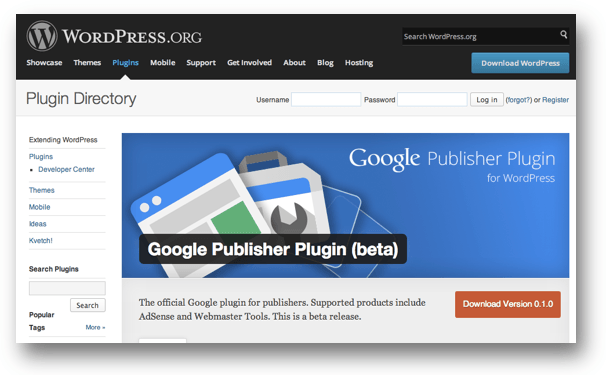 Google Publisher Plugin (beta) « WordPress Plugins